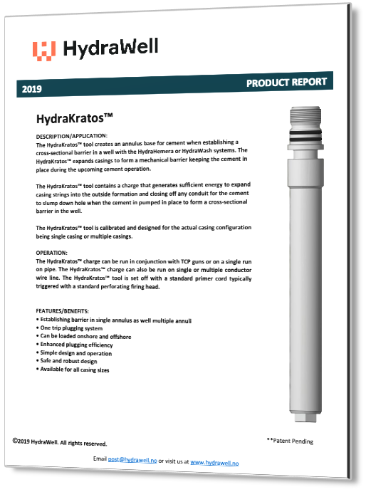 HydraKratos Product Report 2019 3D